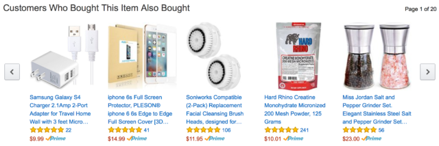 A few of Amazon's suggestions for me.