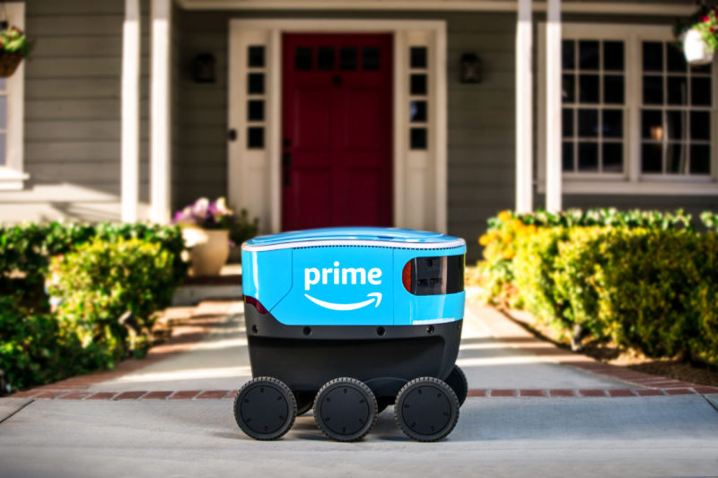 Amazon field tests an autonomous delivery robot named Scout