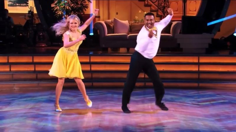 "Actor Alfonso Ribeiro shows off ""The Carlton"" during a <em>Dancing with the Stars</em> performance."