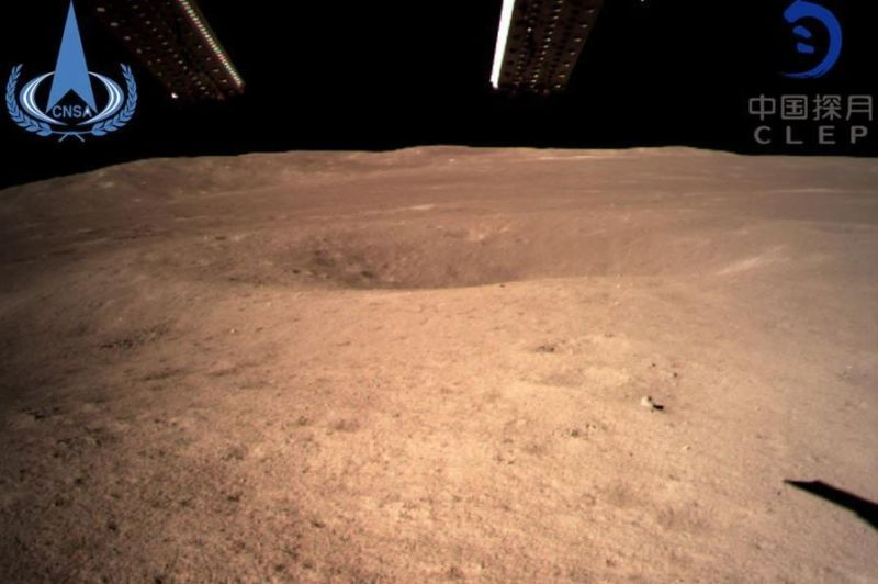 China released this image of the lunar surface taken by the Chang'e-4 spacecraft.