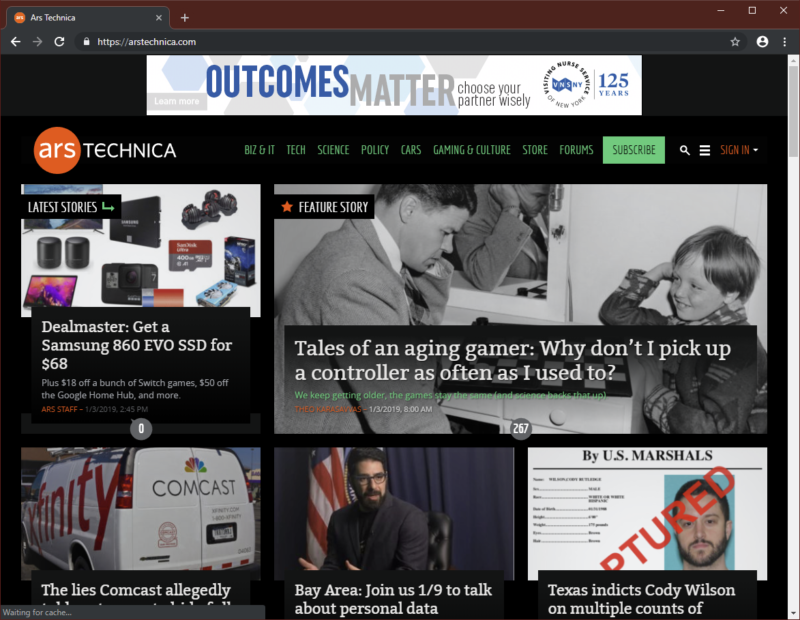 Chrome's dark mode.