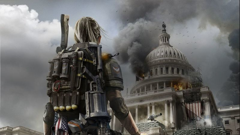 The soldier here is Ubisoft. The Capitol building is Steam. Epic is... the turret?