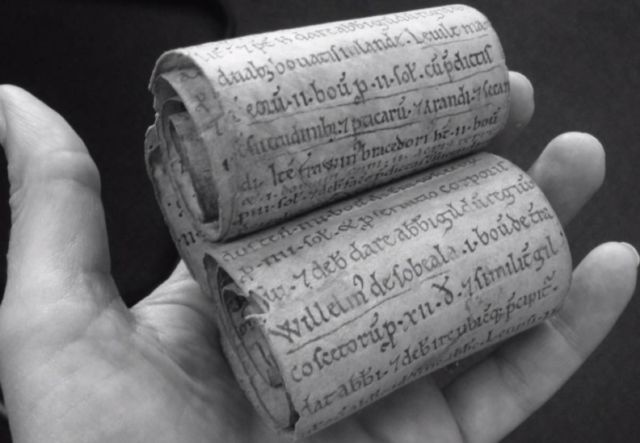 "The Burton Abbey roll fragment contains an inscription that is ""the closest thing to a smoking gun"" confirming a later completion date."