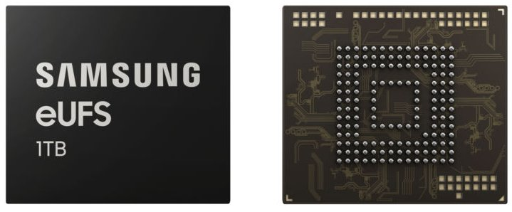Terabyte smartphones come thanks to the new Samsung storage chip