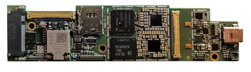 Complete Lakefield motherboard.