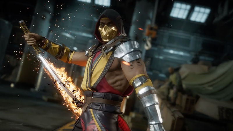 Scorpion has come a long way in <em>Mortal Kombat 11</em>, but he's still a golden ninja with flaming powers, so it works for me.
