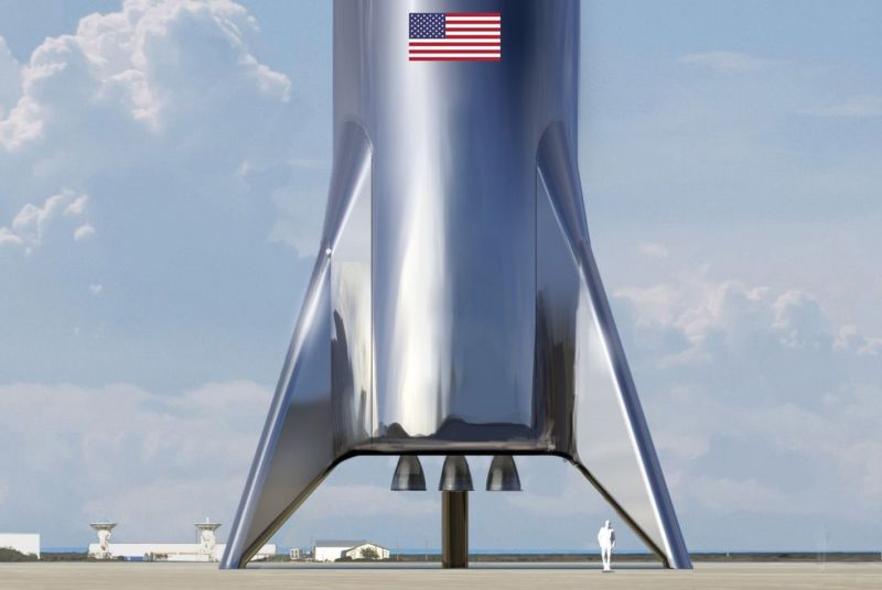 Artist's conception of 21st-century rocket ship.