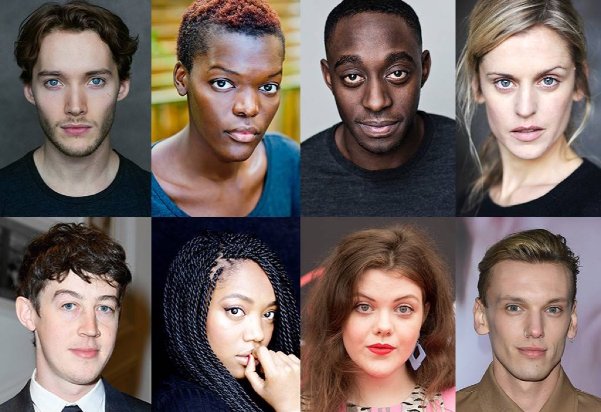 Newly announced <em>Game of Thrones</em> prequel cast members: (top, left to right) Toby Regbo, Sheila Atim, Ivanno Jeremiah, Denise Gough; (bottom, left to right) Alex Sharp, Naomi Ackie, Georgie Henley, Jamie Campbell Bower.