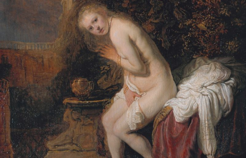 Detail from Rembrandt van Rijn's <em>Susanna</em> (1636), one of the paintings analyzed by Dutch and French scientists using X-ray synchrotron radiation to determine paint composition.