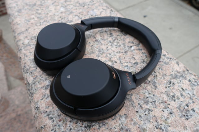 Sony's WH-1000XM3 noise-cancelling headphones.