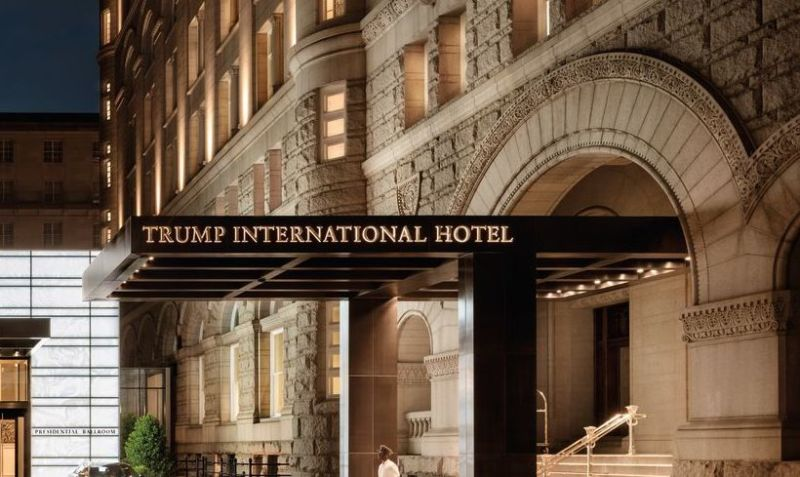 Entrance to the Trump International Hotel in Washington, D.C.