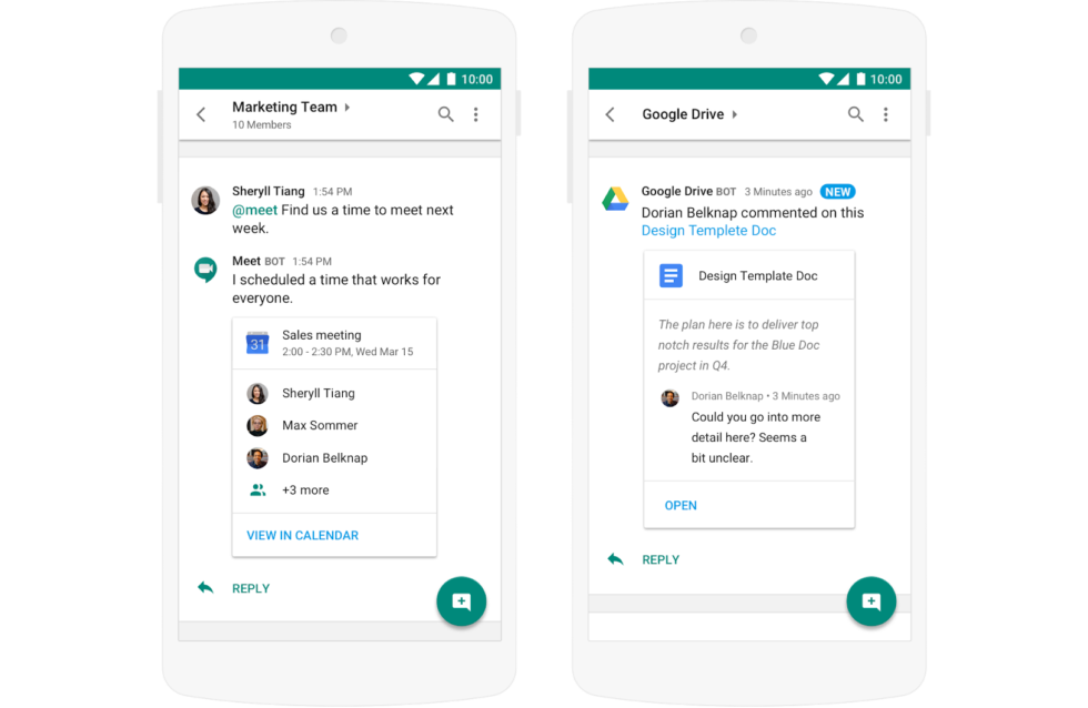 Hangouts Chat, for consumers! Form a marketing team with your friends and family! Share design templates with your mom!