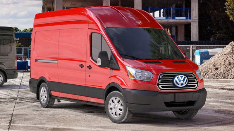 Artist's impression of a VW-branded Transit van.