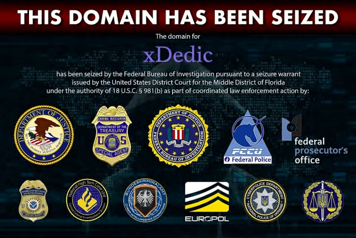 xDedic servers, domains seized by European law enforcement agencies