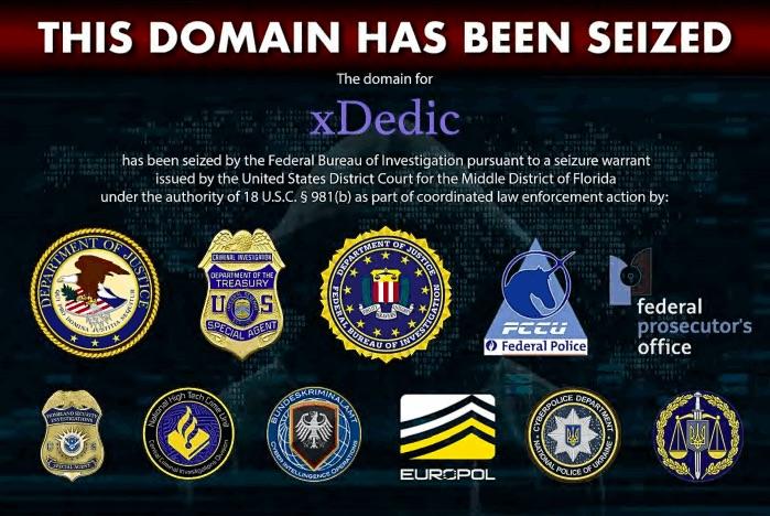 xDedic servers, domains seized by European law enforcement agencies