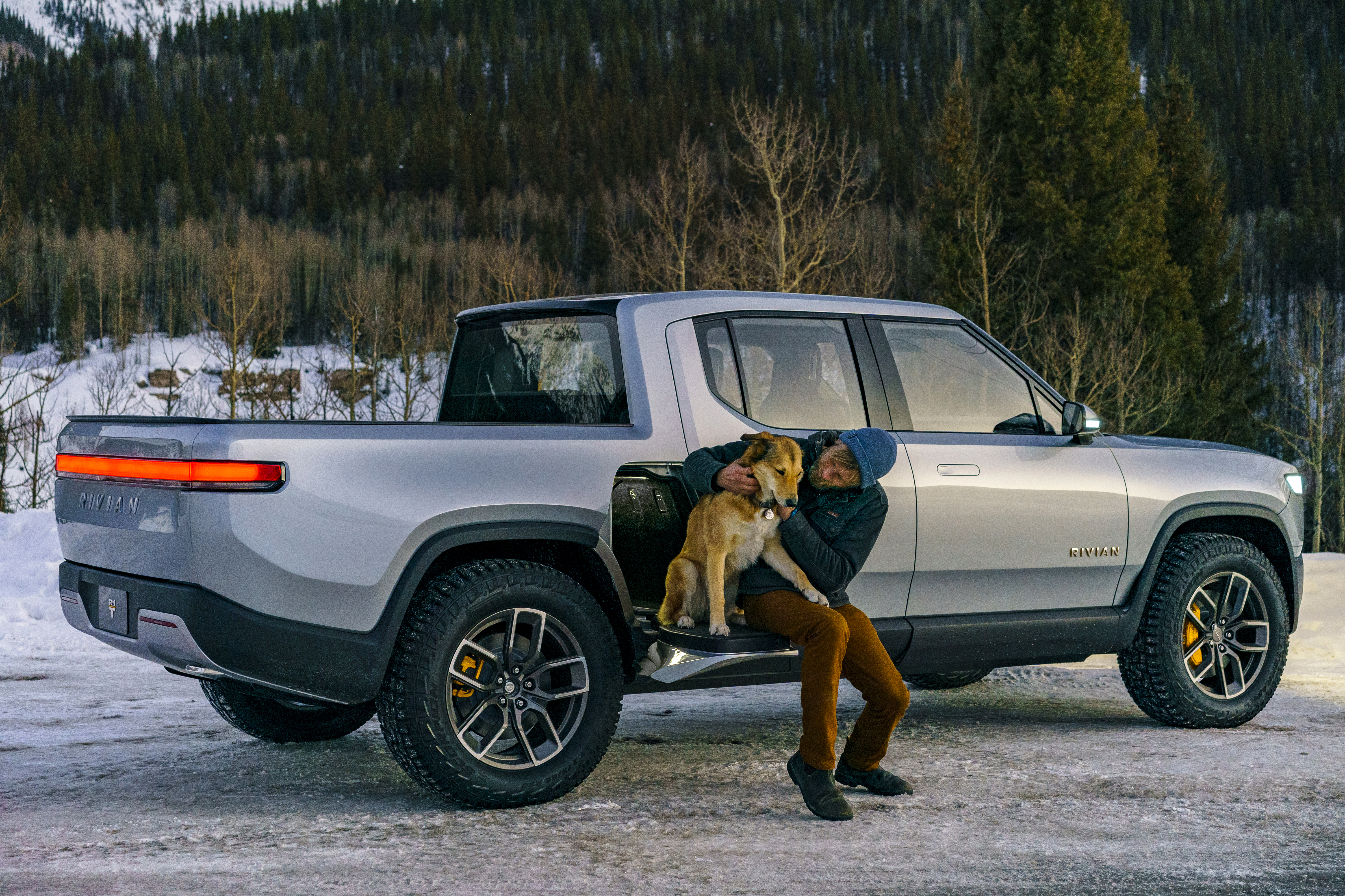 Enlarge A Marketing Photo Of Rivian S R1t Electric Pickup Truck