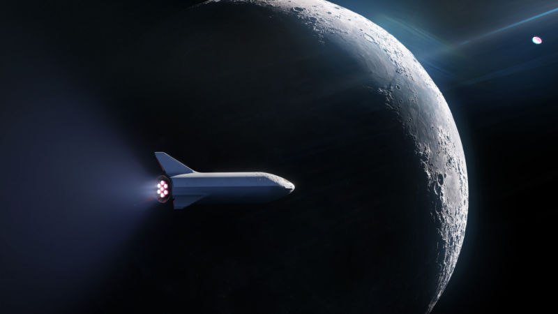 For now, Starship's first mission will be to the Moon.