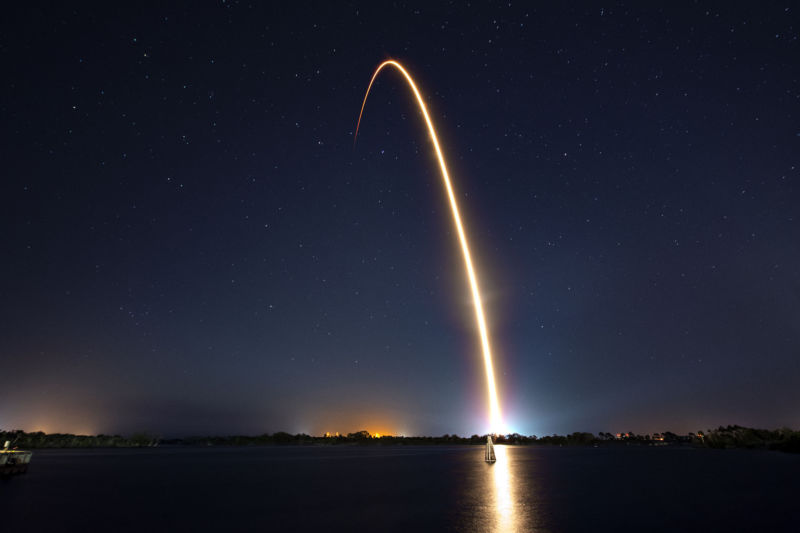 A Falcon 9 rocket launches on Thursday night from Florida.