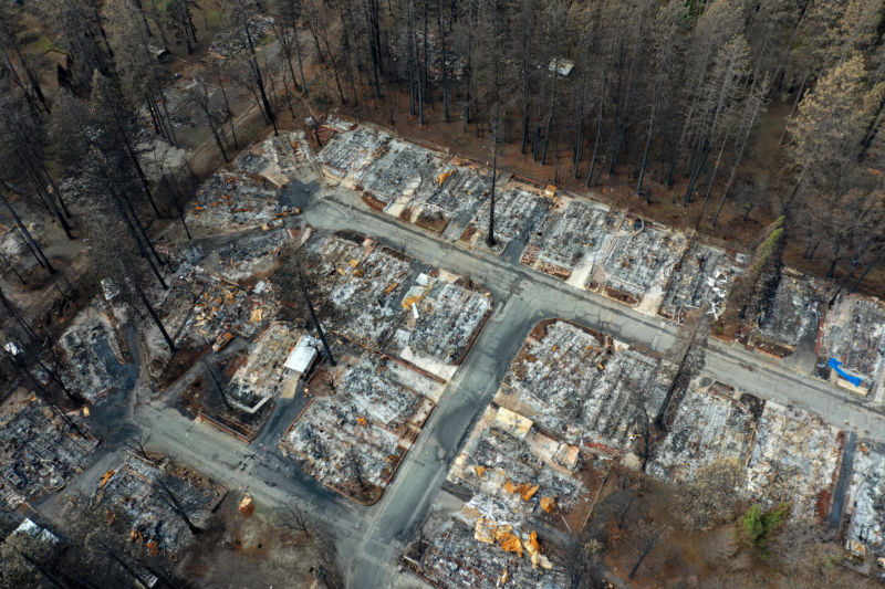 Home lots destroyed by fire.