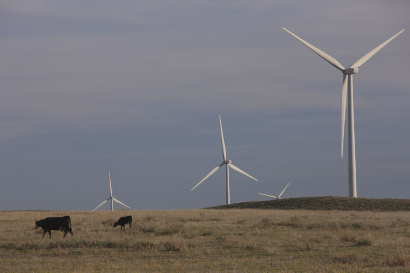Wind turbines in Colorado.