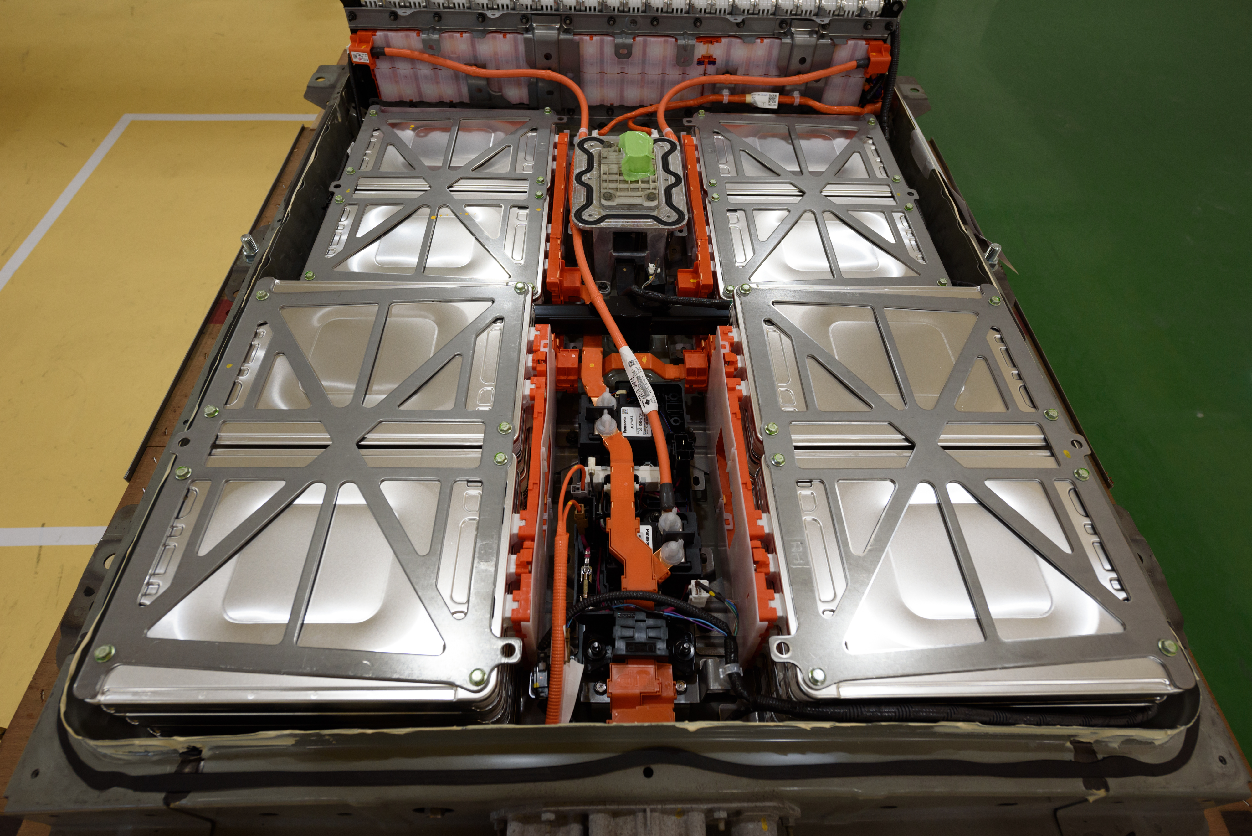 Enlarge A Used Lithium Ion Electric Vehicle Battery Sits At The 4r Energy Corporation Namie Factory In Town Ushima Prefecture An On Monday