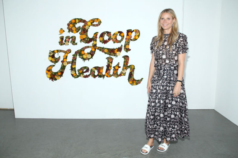 "Gwyneth Paltrow attends the ""In Goop Health"" Summit on June 9, 2018 in Culver City, California."