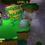 """You'll have to use special items to reach the gift-filled """"backer island,"""" which randomly appears and (assumedly) includes a real Kickstarter backer's likeness."""