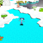 Glide across a frozen lake in any ice zone.