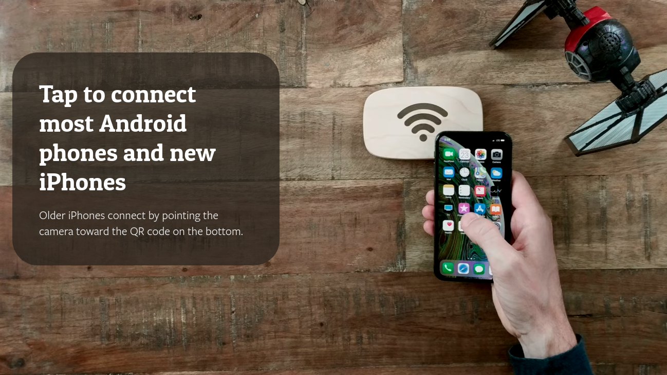 "Similarly to WPA3, Ten One Design's Wi-Fi Porter seamlessly joins devices to your wLAN using NFC ""tap"" technology."