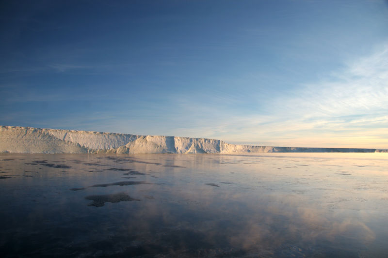 The Stange Ice Shelf in Antarctica.