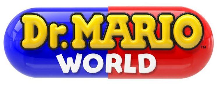 The logo for <em>Dar. Mario World</em>.
