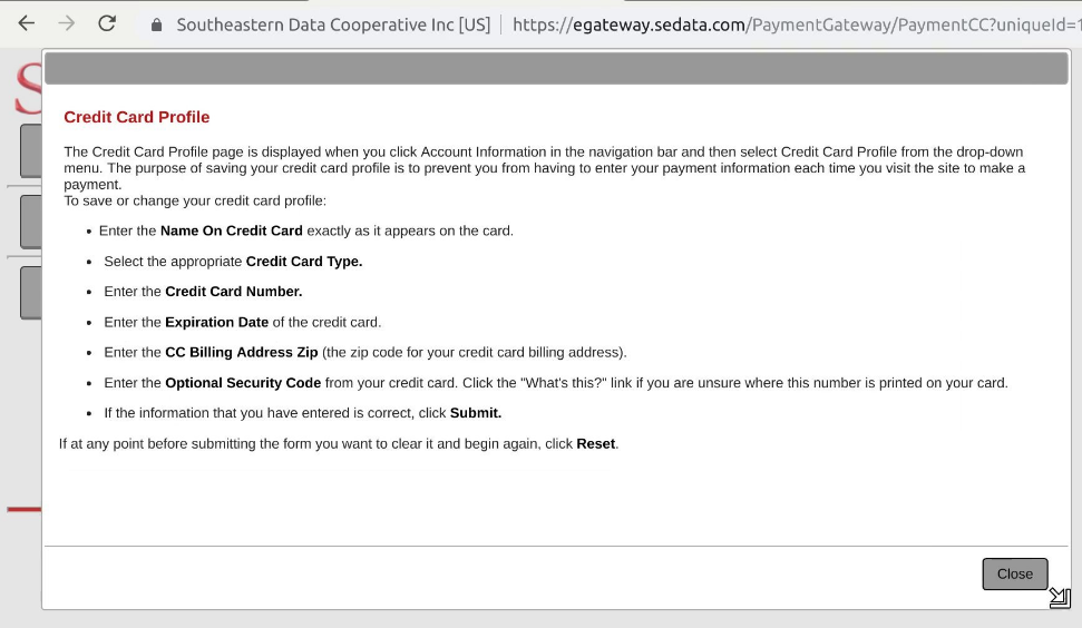 """Credit card information doesn't appear to be stored on the same servers as the plaintext passwords—the individual sites are hosted by the utility companies themselves, but payments are handled in SEDC's own datacenter. An attacker could add a new card to a customer's account by way of this portal, or read the """"last four"""" of previously saved cards, but that's about it."""
