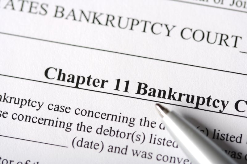 A legal document for declaring Chapter 11 bankruptcy.