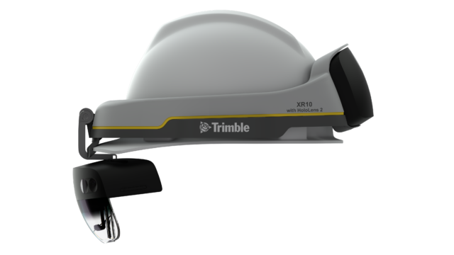 The Trimble XR10 integrates HoloLens 2 and a hard hat.