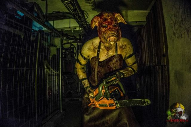 "A ""scare actor"" terrifies guests by threatening them with a chainsaw. Or, in psych-speak, he does so via ""a behavioral display of violent hostility and dissonance-inducing mask."""