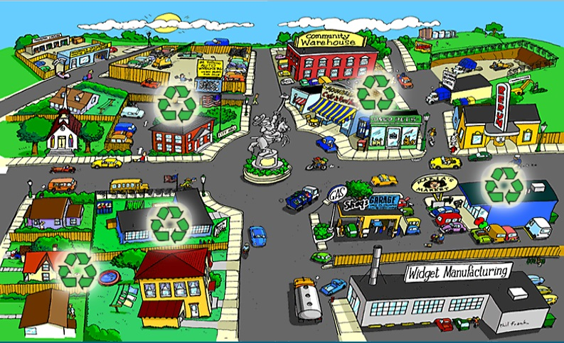 A shot from the EPA's <em>Recycle City Challenge.</em> Not shown: The <em>Yoshi's Island DS</em> music that played in the background of the game.
