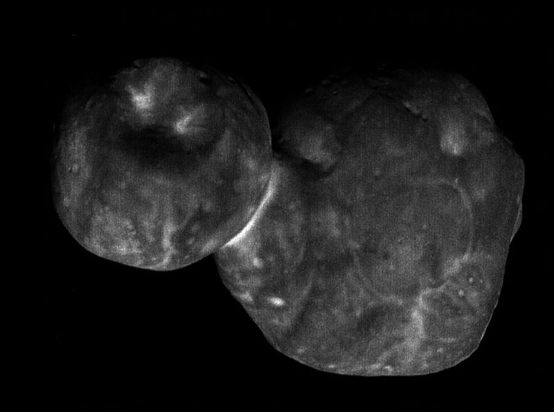 The most detailed images of Ultima Thule obtained just minutes before the spacecraft's closest approach at 12:33 a.m. EST on Jan. 1