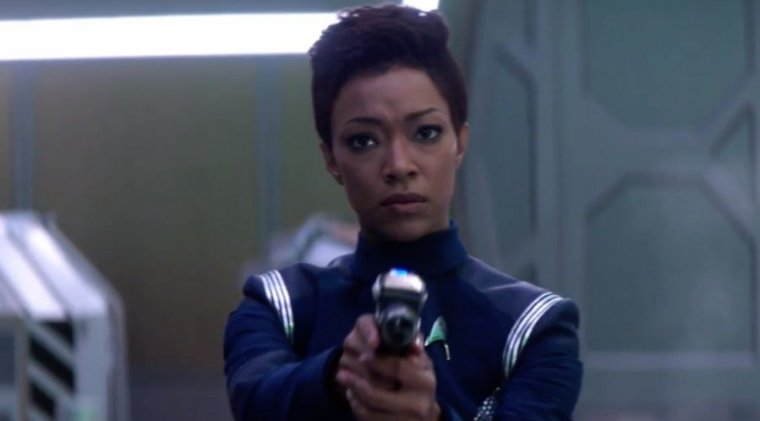 <em>Discovery</em> lead Sonequa Martin-Green as Starfleet officer Michael Burnham.