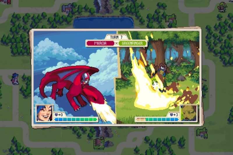 On the right, <em>Wargroove</em> developers asking for Sony to open up cross-platform support on the PS4. On the left, Sony.