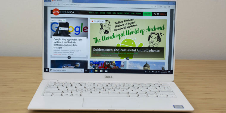 xps   review  small move  dells  laptop   ars technica