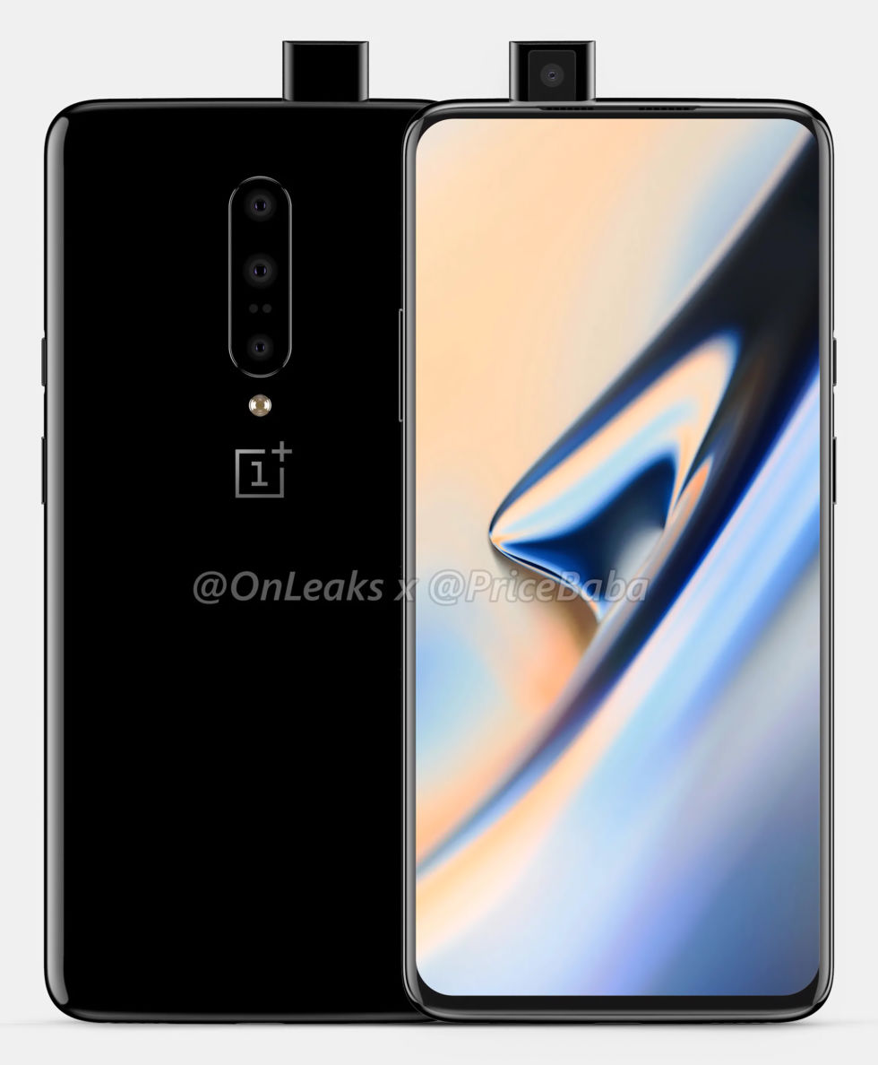 New OnePlus 7 Renderings Showcase A Pop-Up Camera, No Notch