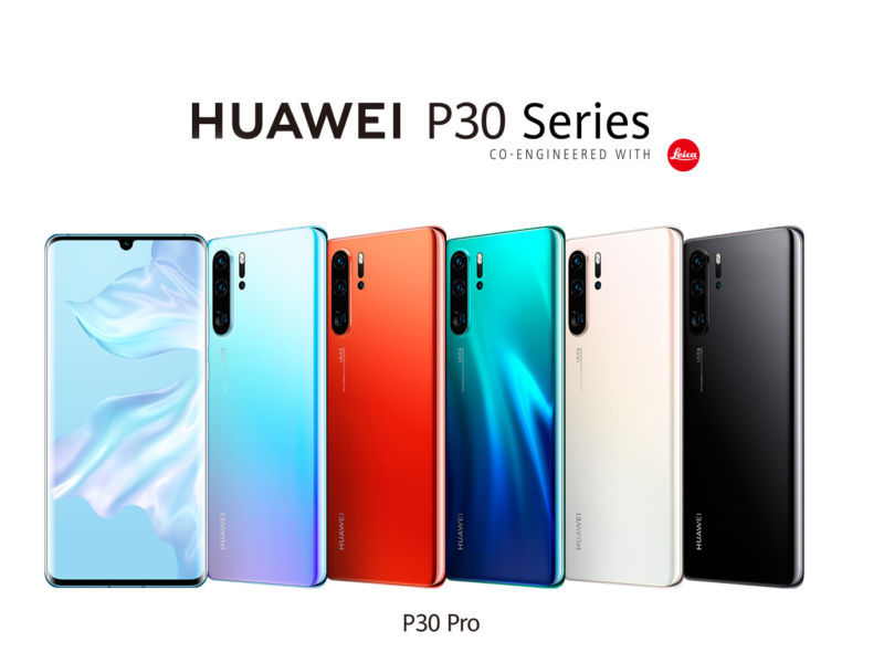 Pictures of the Huawei P30 Pro.