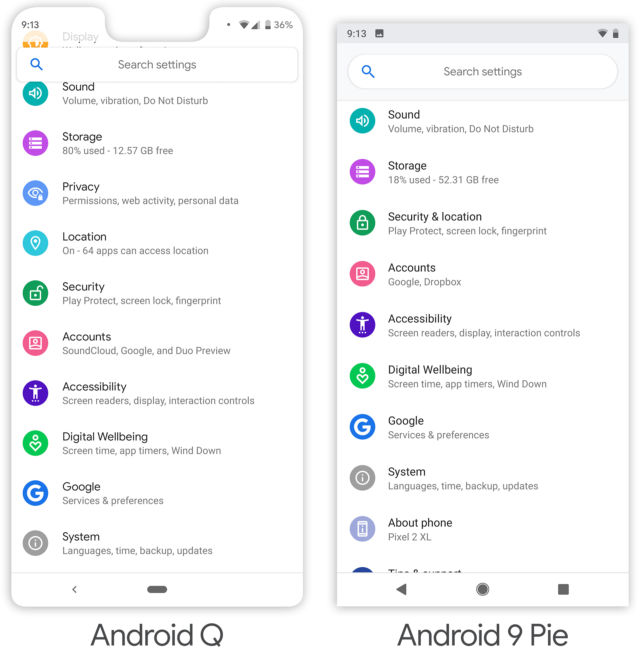 Hands-on: What's new in Android Q | Ars Technica