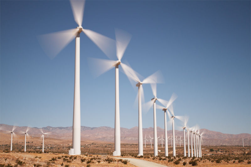 Wind turbines near Palm Springs, California.