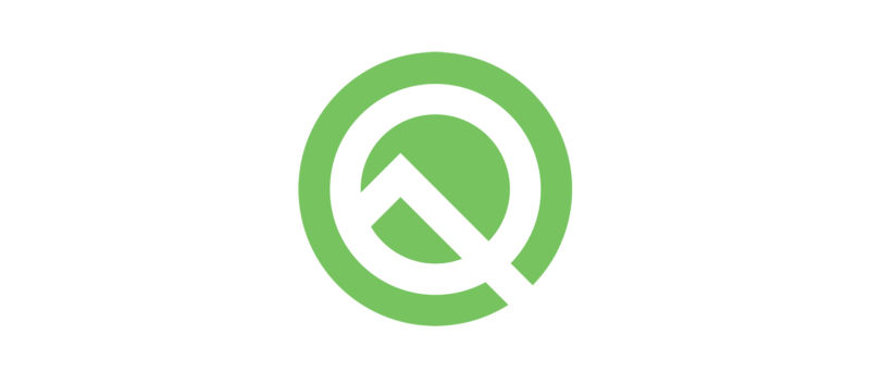 The Android Q logo.