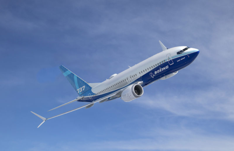 Promotional image of Boeing 737 passenger jet plane.