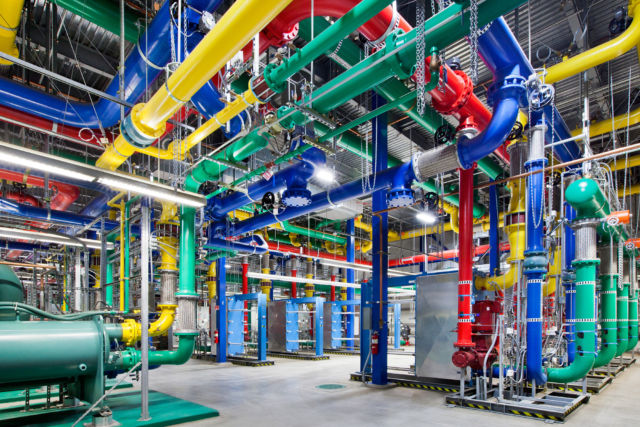 The Internet is a series of tubes—like these cooling pipes in Google's Oregon data center.