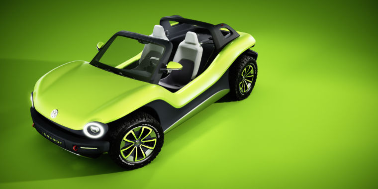 The Vw I D Buggy Is A Bright Green Electric Smile Machine