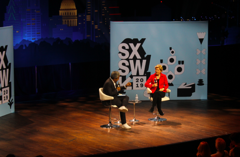 Sen. Elizabeth Warren took the SXSW stage