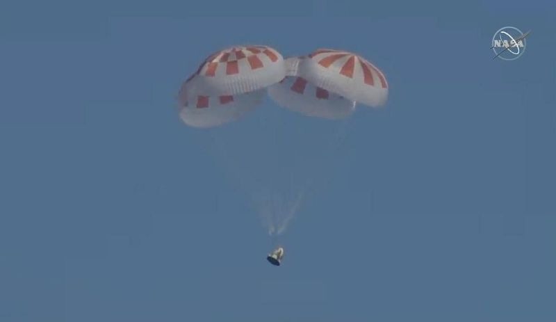 SpaceX Crew Dragon Set To Return To Earth From Inaugural Mission